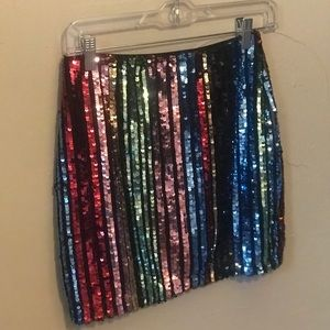Multi colored sequin skirt